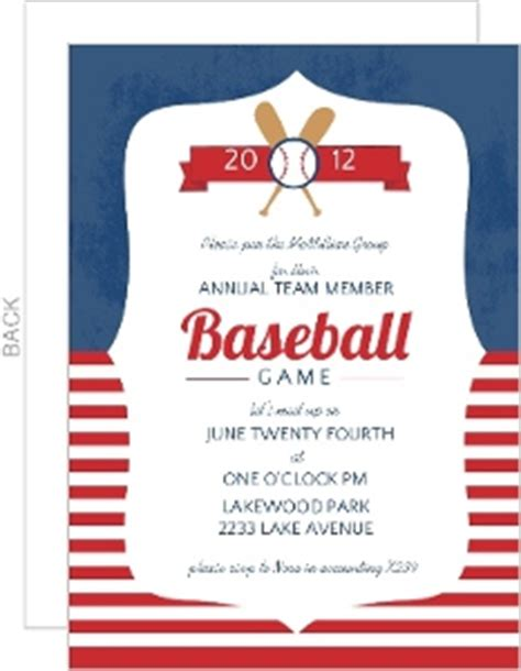 Sports Party Invitations Baseball Card Invitation Templates