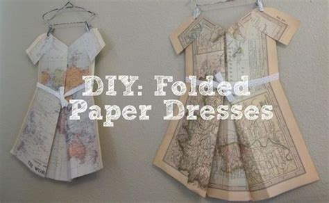 How To Fold Paper For Paper Dolls - diy folded paper dresses diy paper dolls dress diy crafts