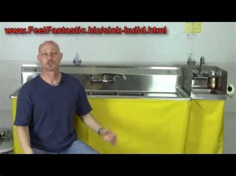 how to build a concession sink how to build a portable 3 compartment concession sink