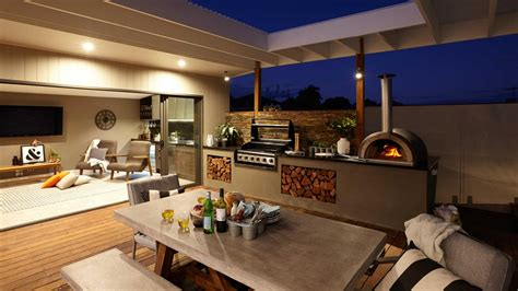 outdoor entertainment area outdoor entertaining pizza oven grill bunnings balwyn