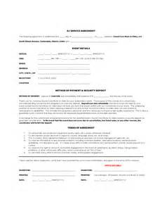 Sample Barter Agreement Template Dj Service Agreement Free Download