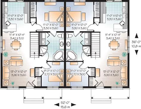 flexible two family house plan 21244dr 1st floor economical two family house plan 21770dr 1st floor