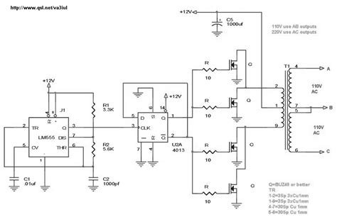 12v to 110v inverter schematic wiring diagrams wiring