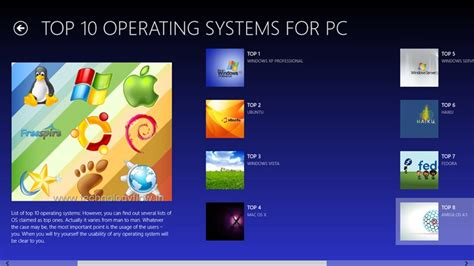 computer os top 10 operating systems for pc and mobiles for windows 8