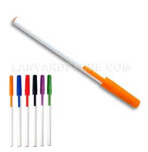 colored ballpoint pens stick ballpoint pen with colored cap