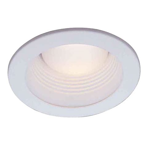baffle trim recessed lighting commercial electric 4 in white recessed baffle trim