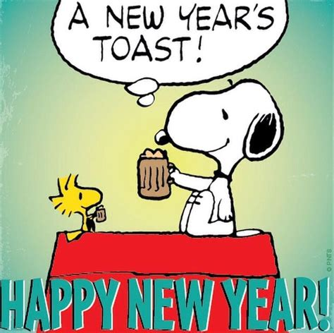 a new years toast snoopy quote pictures photos and