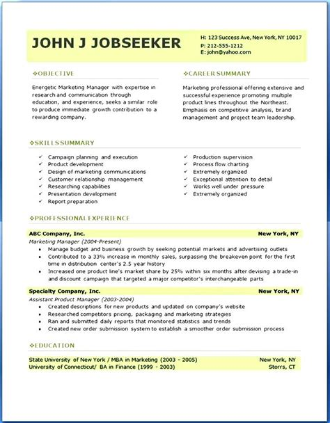 Free Professional Resume Template   homejobplacements.org