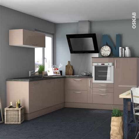 cuisine moka fa 231 ades de cuisine 3 tiroirs n 176 74 keria moka l80 x h70 cm