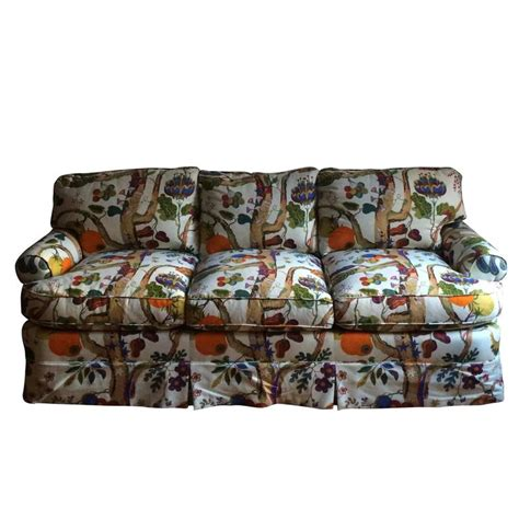 custom sofa and loveseat in josef frank fabric for sale at