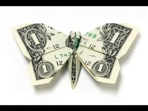 How To Do Dollar Bill Origami - how to make a dollar bill origami butterfly