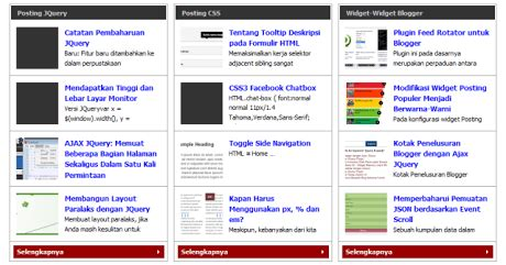 cara membuat blog rapi cara membuat widget posting terbaru berdasarkan label
