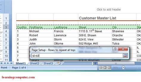 layout tab excel 2007 microsoft excel page layout tab ms excel 2007