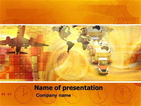 Transworld Logistics Presentation Template For Powerpoint Logistics Ppt Template Free