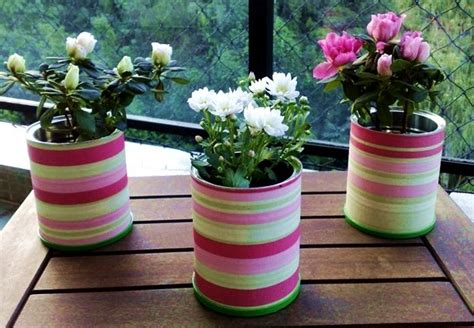 Home Made Wedding Decorations by 20 Tin Can Craft Ideas Flower Vases And Plant Pots