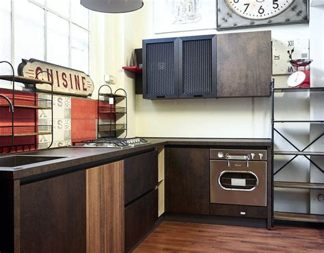 cucine in ferro cucina angolare industriale ossido bronzo e ferro in