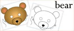 printable animal masks bear mask woo jr kids activities