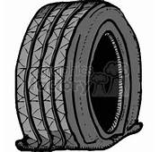 Royalty Free Flat Tire 172896 Vector Clip Art Image  WMF Illustration