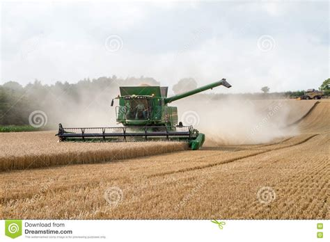 Steunk Combines Modern Tech With Elements by Modern Combine Harvester Cutting Crops Corn Wheat Barley