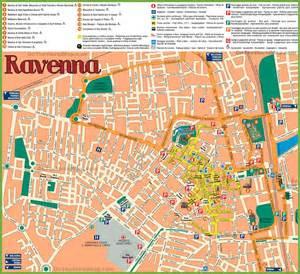 Ravenna Italy Map by Ravenna Sightseeing Map