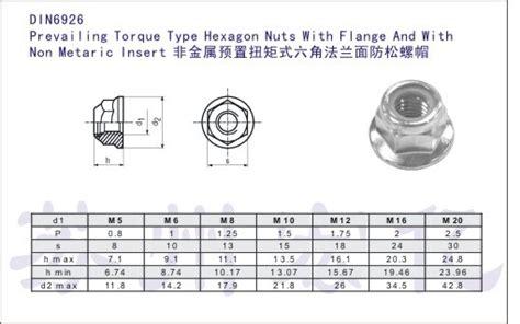Hexagon Nuts Mur 8 8 Htb M12 P1 75 Baja Hitam Grade 5 Din6926 Prevailing Torque Type Hexagon Flange Bearing Lock