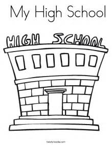 school coloring page my high school coloring page twisty noodle