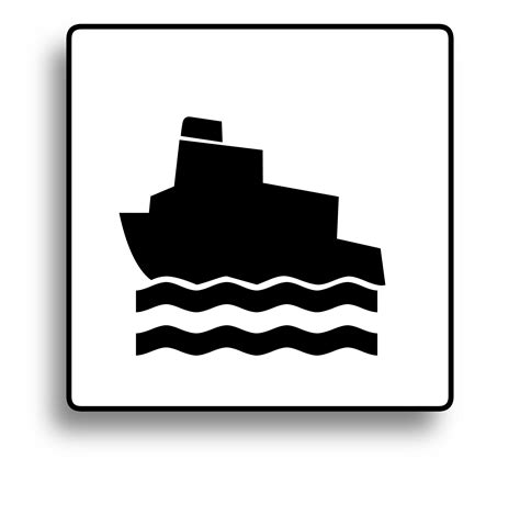 symbols used in the open boat clipart ferry icon for use with signs or buttons