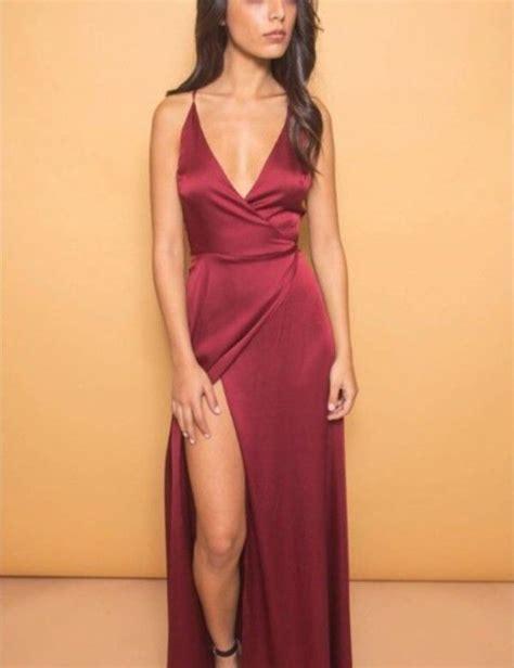 Dress Silk silk burgundy dress formal dresses