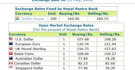 nepal rastra bank exchange rate exchange rates fixed by nepal rastra bank may 21 2016