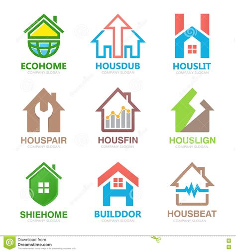 design home troubleshooting set of house logo design template house logo home logo