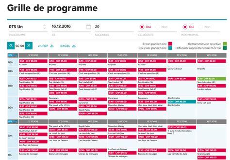 Programme Tv Grille by Grille De Programme