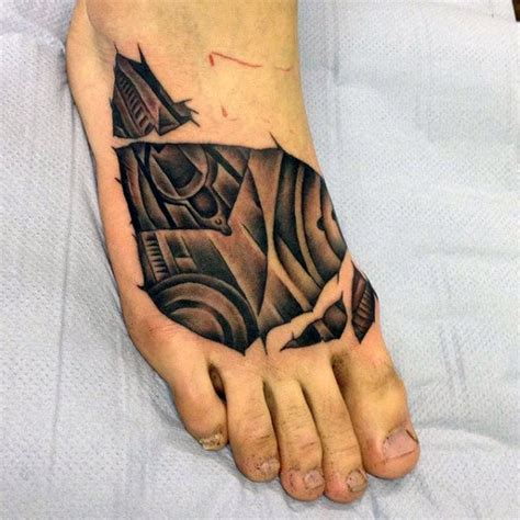 tattoo on foot for men 90 foot tattoos for step into manly design ideas