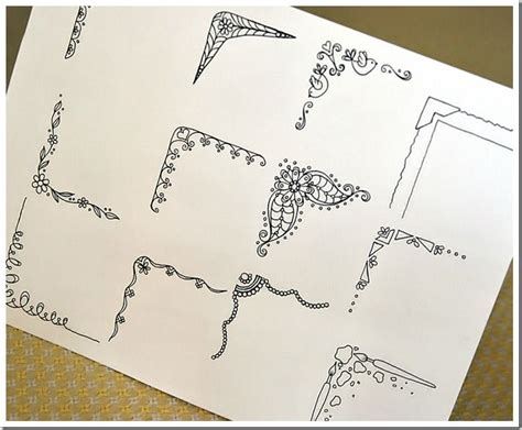 how to draw doodle borders doodle corners journal frame ideas plus i the