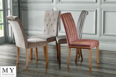 high quality upholstered scroll roll  dining chair genoa single ebay