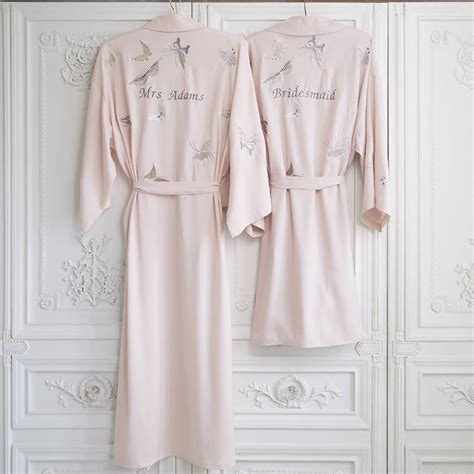 Wedding Dressing Gowns by Bridal Wedding Dressing Gown Kimono Personalised By