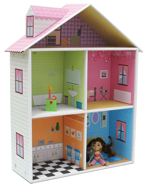 picture of doll house cardboard doll house