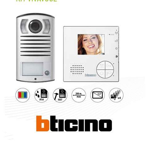 citofono bticino swing bticino 365511 kit videocitofono monofamiliare