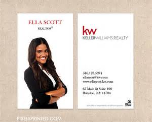 realtor business cards kw realtor business cards thick color both sides by