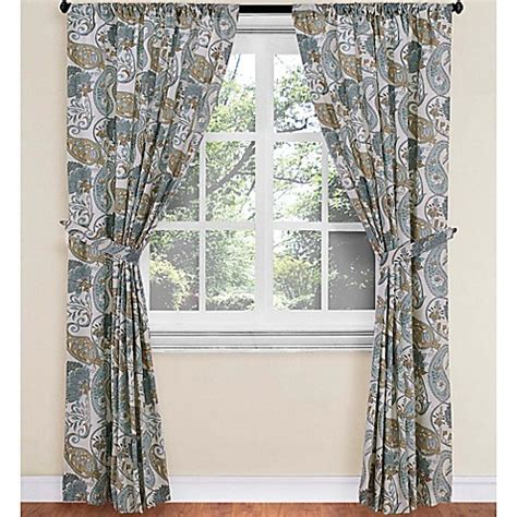 paisley curtains window treatments world market 174 paisley floral rod pocket window curtain