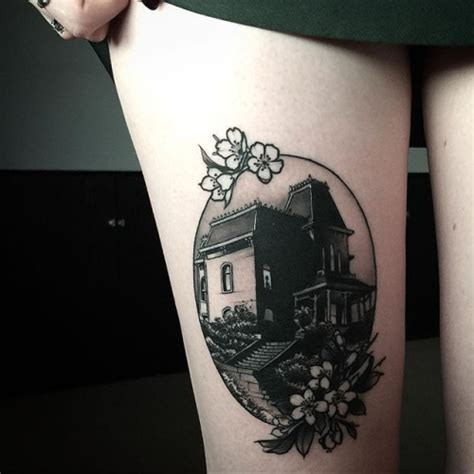 haunted mansion tattoo 45 best haunted house tattoos