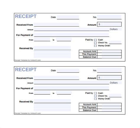 26 Receipt Templates Sle Templates Simple Receipt Template