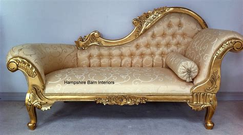 gold recliner 11a gold leaf medium hshire chaise in cream fabric