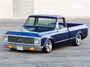 beautiful blue 1972 chevrolet c10 custom random