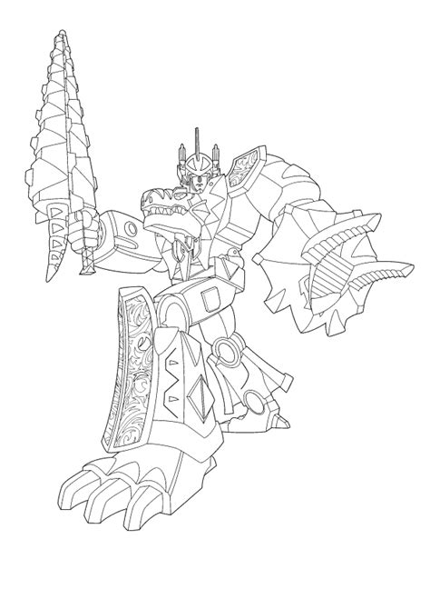 free megaforce power rangers coloring pages