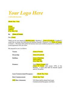 letter of intent office nnn realcreforms