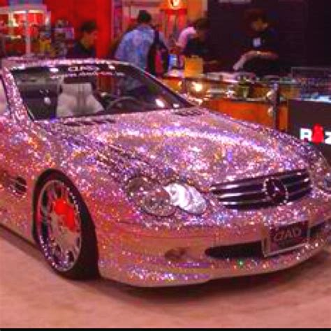 pink glitter car sparkly pink mercedes my car cars