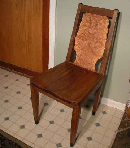 custom walnut dining chair dumond s custom handmade furniture