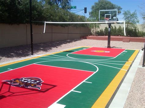 sports courts for backyards sports entertaining in your arizona landscape design