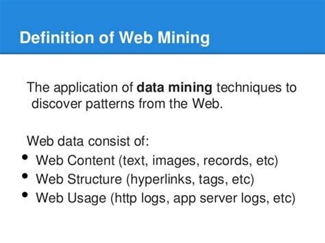 pattern extraction in web mining web mining structure mining