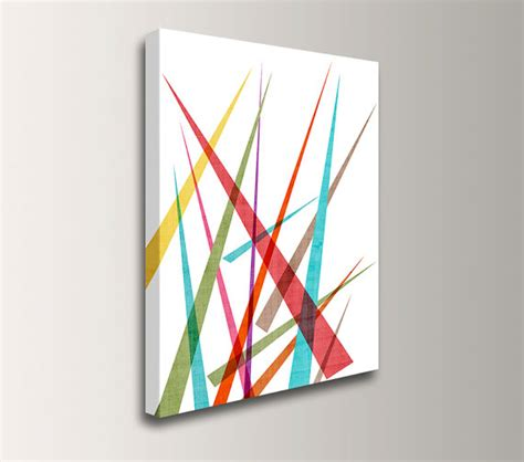 mid century wall decor mid century modern wall colorful canvas geometric